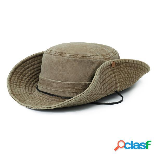 Hombres Verano Visor Bucket Sombrero Fisherman Sombrero al