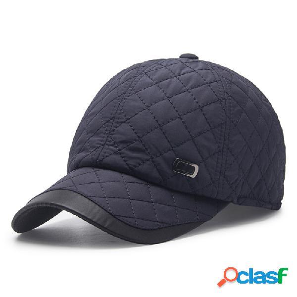 Hombres de color sólido Oreja protección cálida gorra de