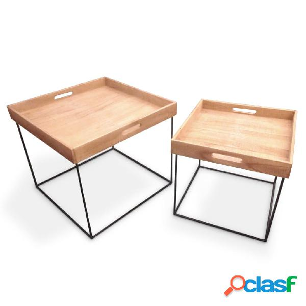 Home&Styling Home&Styling Juego de mesas con bandeja 2