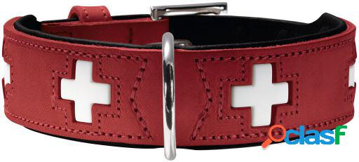 Hunter Collar Swiss para perros color rojo y negro T-60