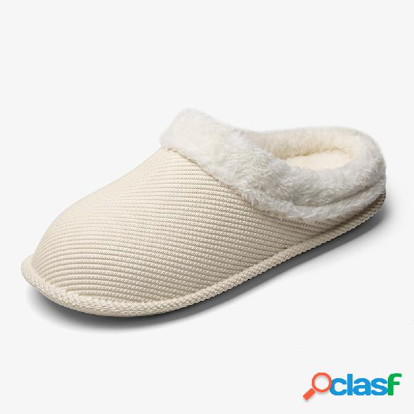 Impermeable Forro de felpa cálido Zapatos para el hogar