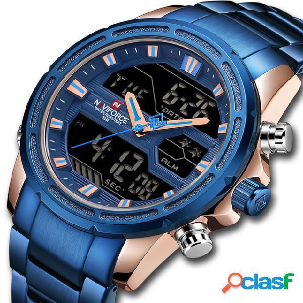 Impermeable LED Dual Digital Reloj Militar estilo hombres