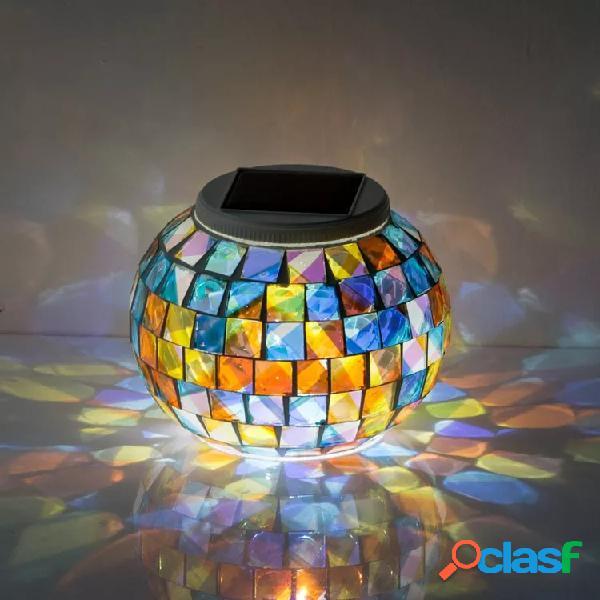 Jardín Solar Power Glass Ball Colorful luz LED al aire