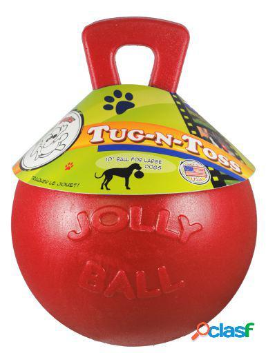"""Jolly Pet Ball Tug-N-Toss 10"""" Rojo 670 gr"""