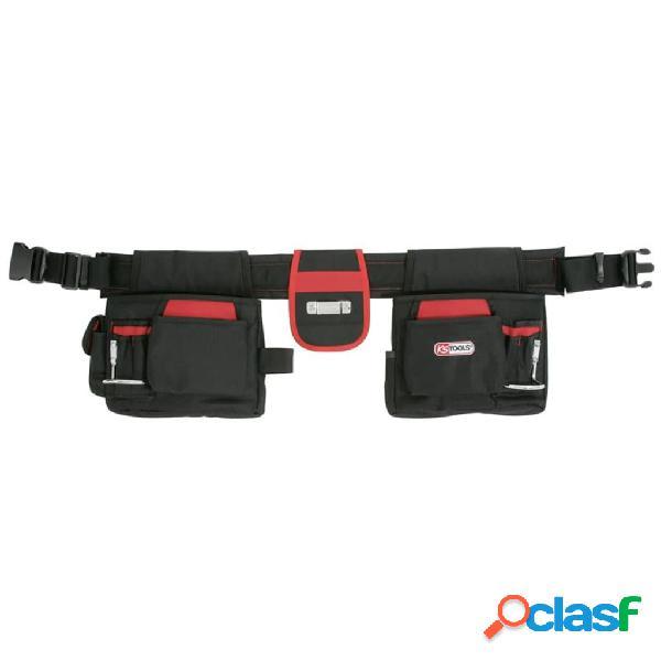 KS Tools Cinturón de herramientas profesional negro y rojo
