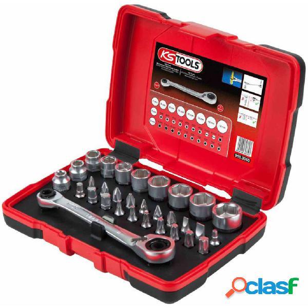 KS Tools TORSIONpower Carraca, vasos y puntas 31 piezas 11
