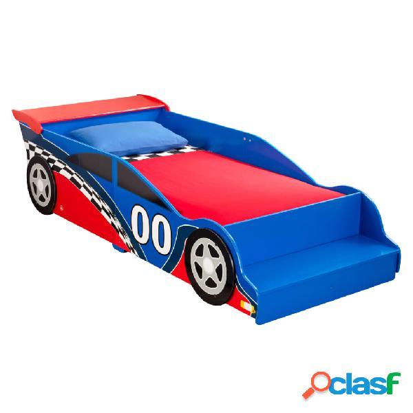KidKraft Cama para niño con forma de coche Race Car rojo y
