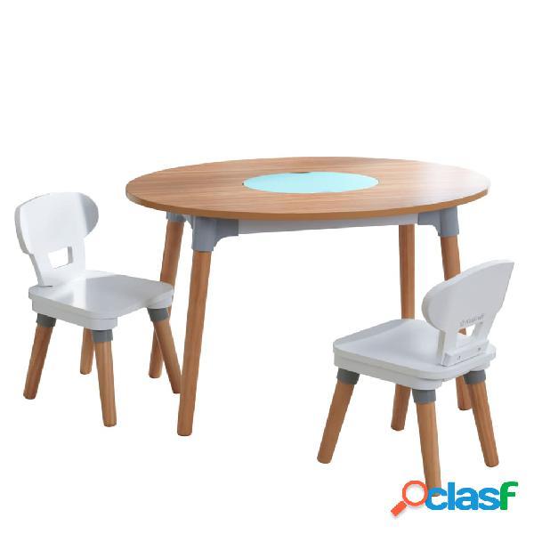 KidKraft Mesa para niños con 2 sillas Mid-Century Modern