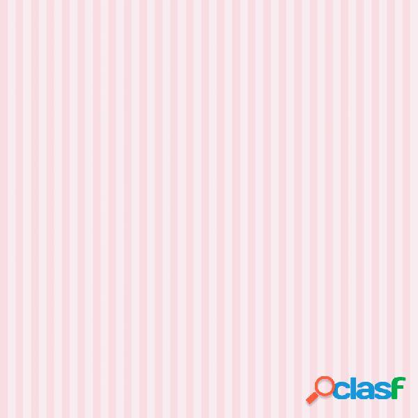 Kids at Home Papel pintado Stripe rosa