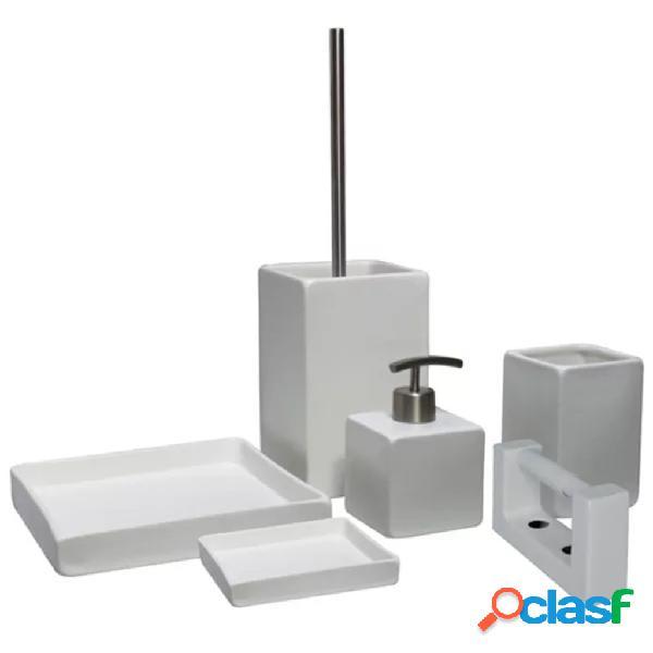 L'Aqua Set de accesorios de baño cuadrados 6 piezas