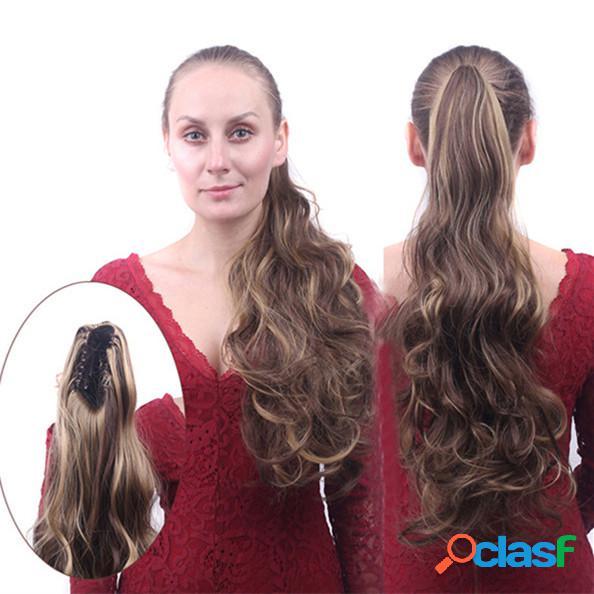 Largo rizado cola de caballo Clip Flip Hair Tails
