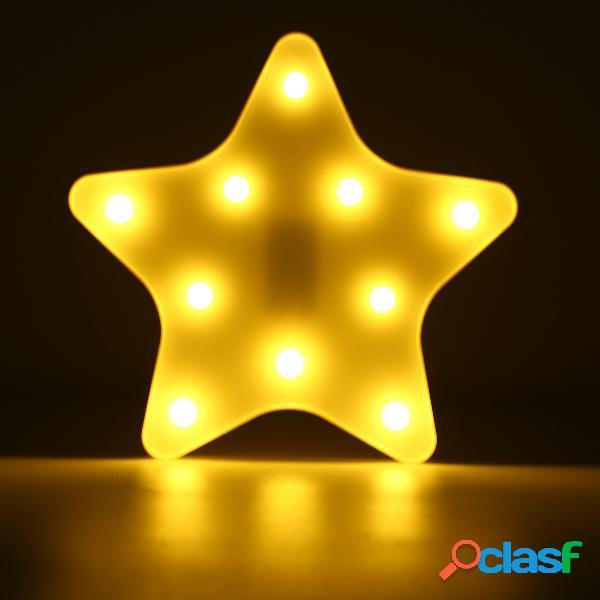 Linda estrella LED noche de la luz de la pared de la