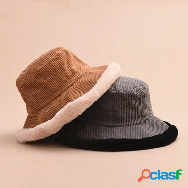 Lindo Soft Pescador Sombrero Lavabo de pana Sombrero