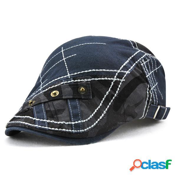 Los hombres 100% algodón lavada gorra de boina respirable