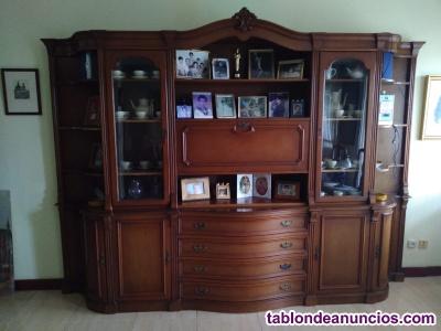 Lote muebles clásicos salón madera maciza
