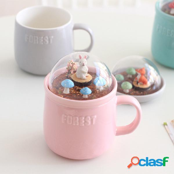 Lovely Cute Micro Landscape Cerámico Cup Creative Christmas