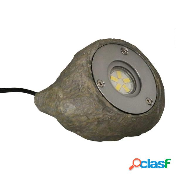 Luxform Lámpara LED de jardín Tatra gris piedra