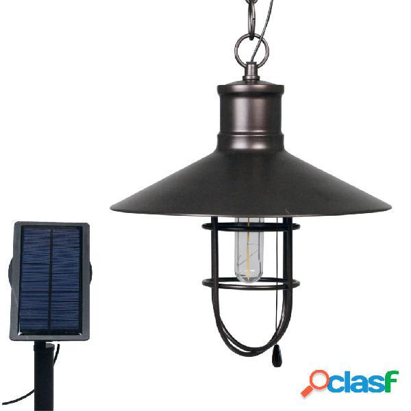 Luxform Lámpara solar LED de jardín Caledon bronce oscuro