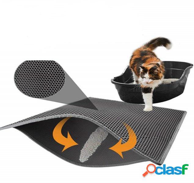 MECO Portátil de doble capa Gato Litter Foam Mat Trapper