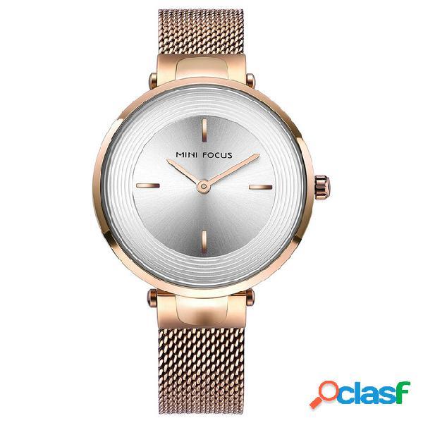 MINI FOCUS Reloj de pulsera de moda Correa de acero