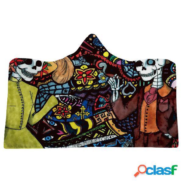 Manta con capucha de Halloween de 130x150cm con capucha de