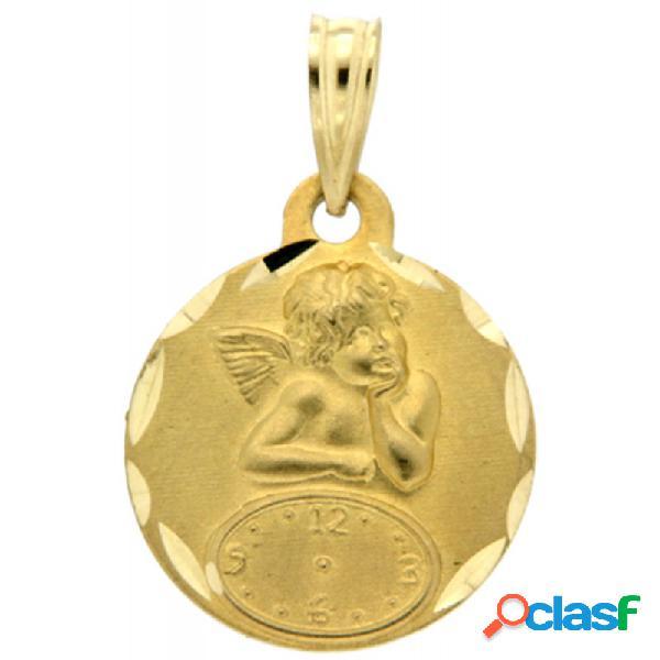 Medalla Angelito Reloj Oro 18k Niña M1198