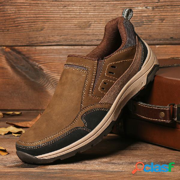 Menico Hombres al aire libre Slip antideslizante en zapatos