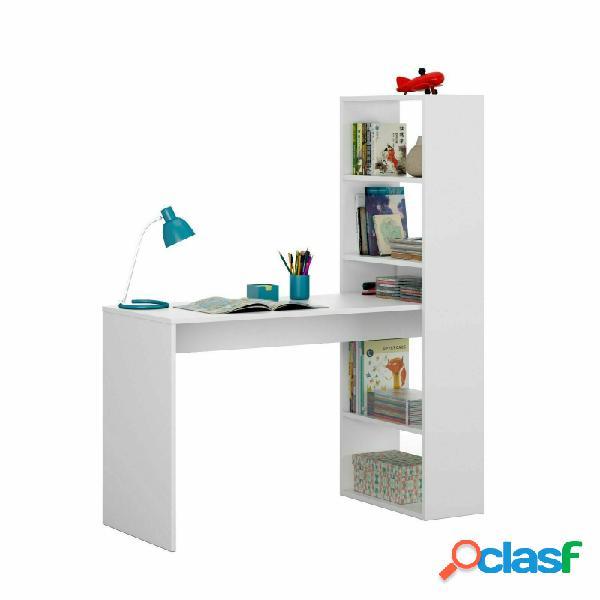 Mesa escritorio con estanteria duplo blanco