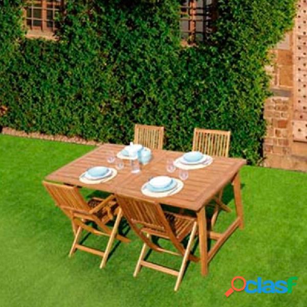Mesa extensible madera acacia 180-240 x 100 cm