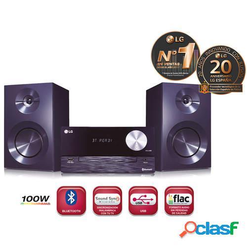 Microcadena LG CM2460 - USB, Bluetooth, Lector CD y