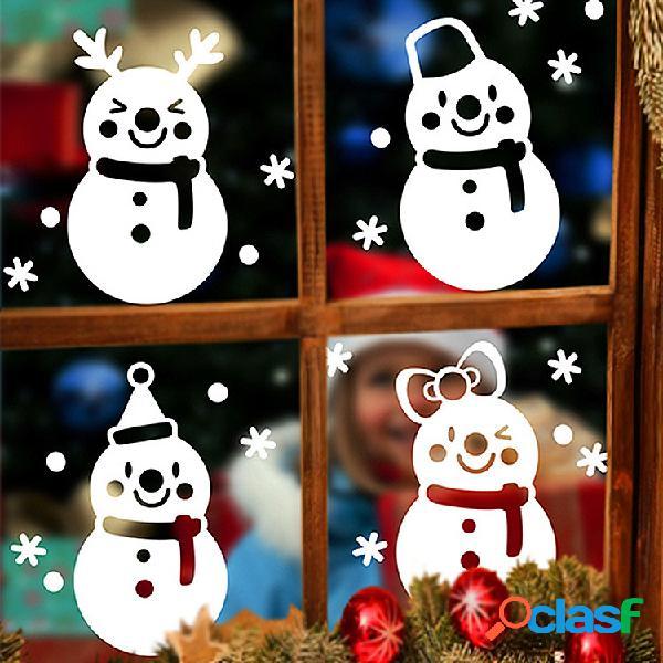 Miico DLX9206 Etiqueta de Navidad Ventana Muñeco de nieve