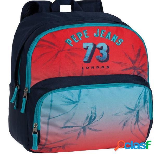 Mochila escolar Pepe Jeans doble compartimento 45cm