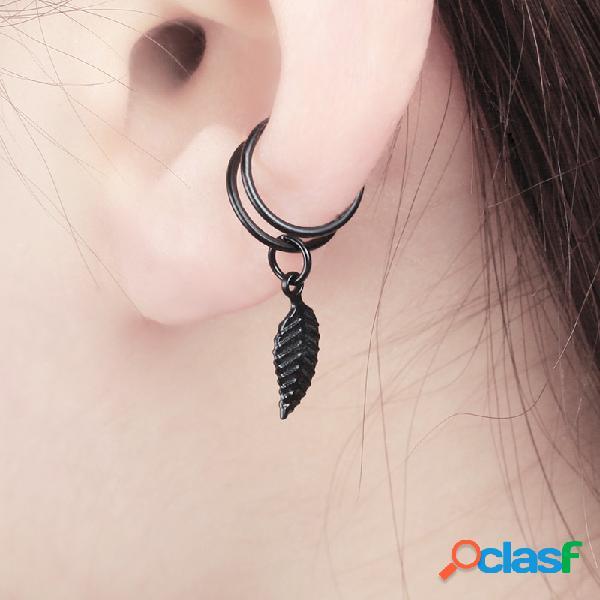 Moda en forma de U Clip de oreja en pendientes Pendiente