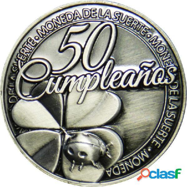 Moneda de la suerte 50 Cumpleaños