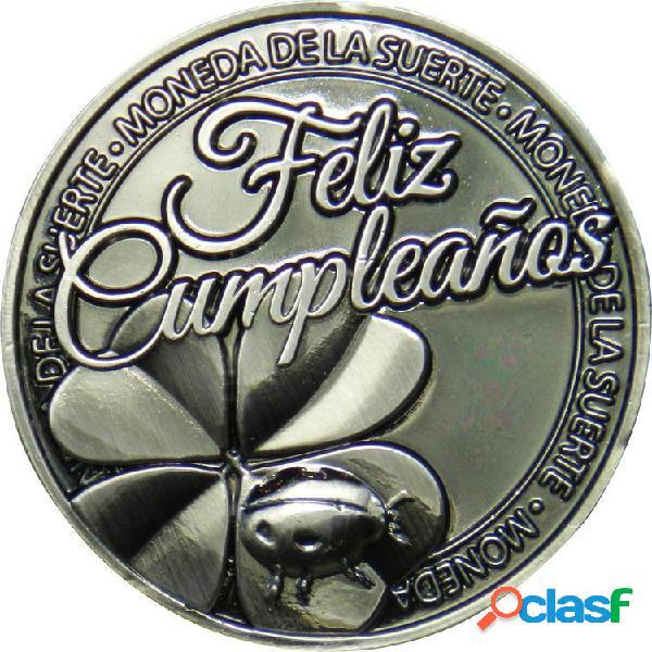 Moneda de la suerte Feliz Cumpleaños