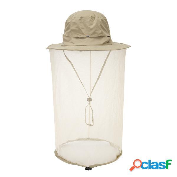 Mosquito Net Sombrero Sun Sombrero Cap Face Secado rápido
