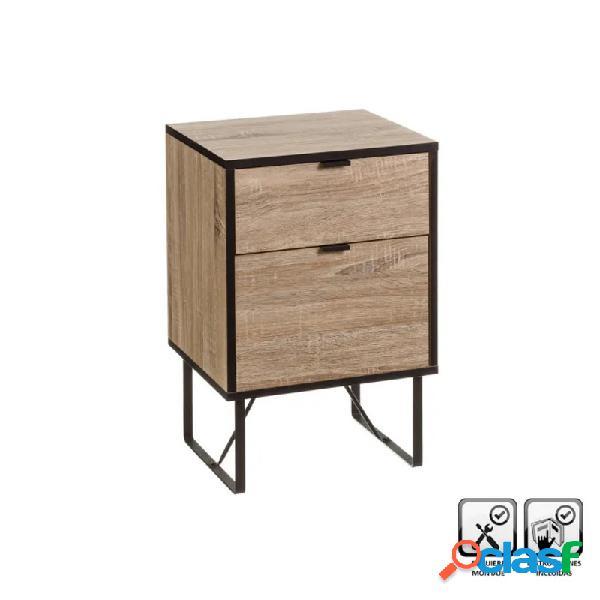 Mueble auxiliar universal 2 cajones mdf y metal