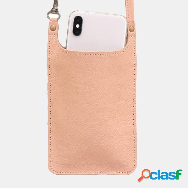 Mujer 6.3 Inch Teléfono sólido Bolsa Crossbody Bolsa