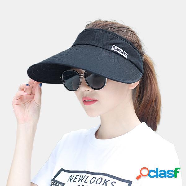 Mujer Big Brim Empty Top Sun Sombrero Sunscreen Sombrero