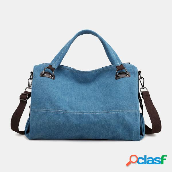 Mujer Bolso Casual de Lona Crossbody Multi-carry Bolsa