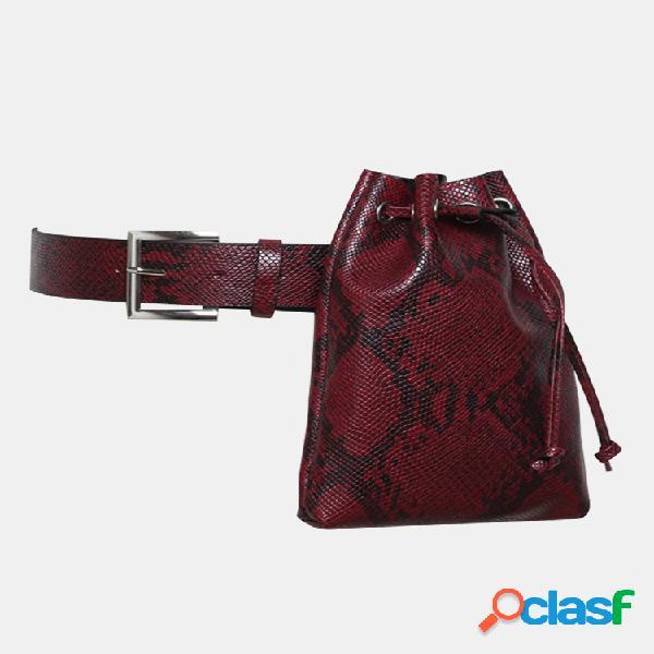 Mujer Cocodrilo Patrón Cintura Bolsa Cadena Casual Bolsa