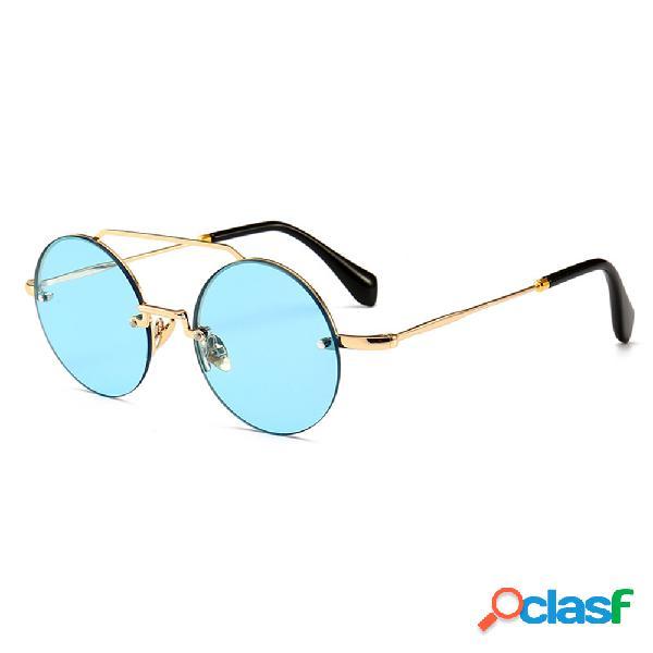 Mujer Marco de metal de alta definición gafas de sol anti