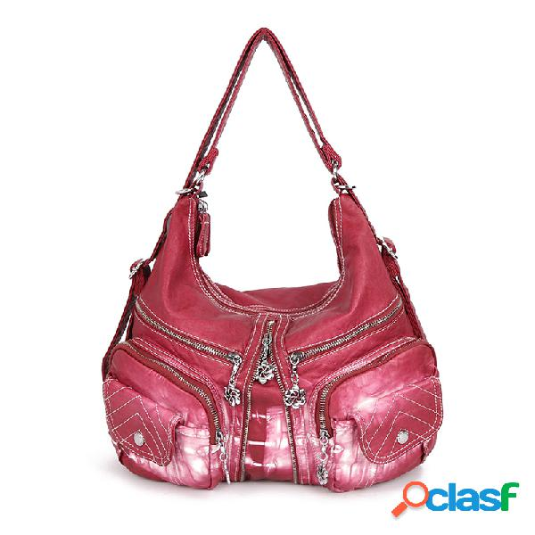 Mujer Mochila Casual Compras Multi-bolsillos Bolsa Crossbody
