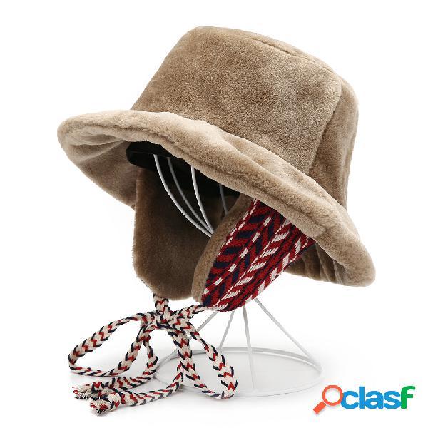 Mujer Orejeras de pescador de terciopelo cálido Sombrero
