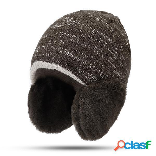Mujer Tejido de lana de invierno Sombrero al aire libre A