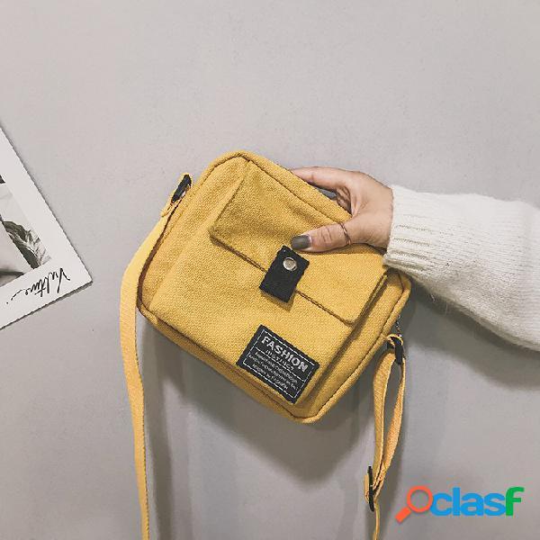 Mujer Teléfono simple de lona Bolsa Hombro Bolsa