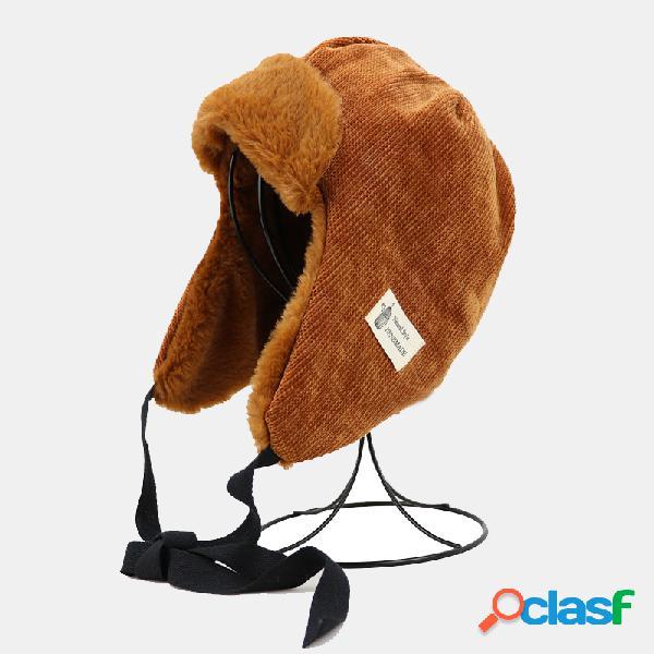 Mujer Trampero para hombre Sombrero Invierno ruso Sombrero