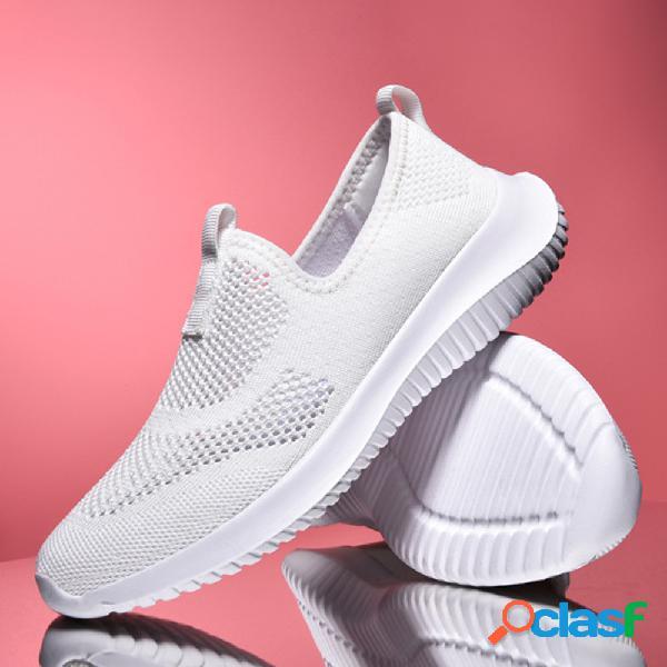 Mujer Zapatos cómodos para caminar planos Soft de malla
