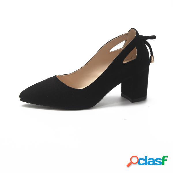 Mujer Zapatos de tacón alto de gran tamaño y boca baja en