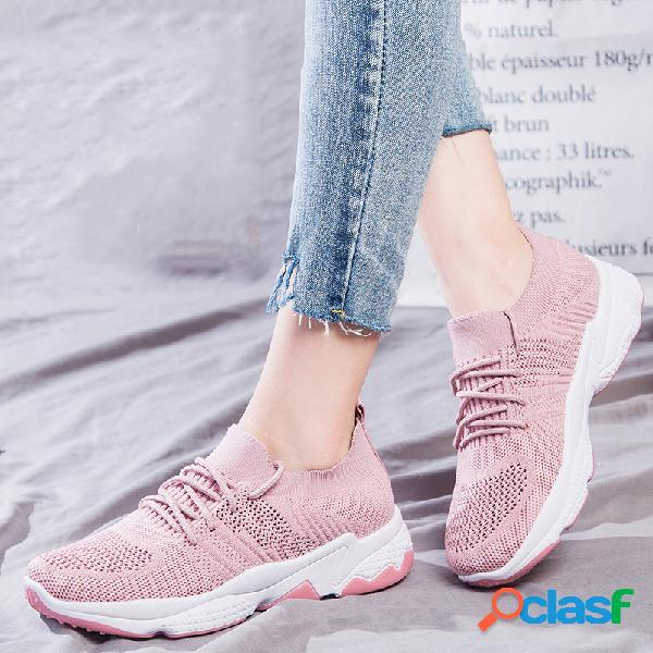 Mujer Zapatos para caminar casuales de malla de color